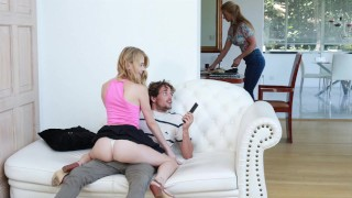 FILTHY FAMILY - Hannah Hays Fucks Step Brother Tyler Nixon For The TV Remote
