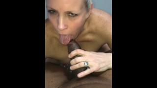 House wife sucks BBC then gets on top to get fucked 2hot