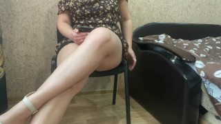 Alice In Sexy Dress Watching Porn
