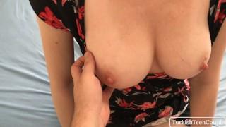 Big tit Turkish Milf gets step sons big cock