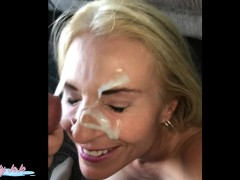 Public cumwalk big facial-Joanna Meadow...