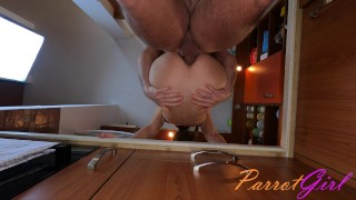 Deep hard anal in the kitchen with cumshot to mouth, bon appétit - ParrotGirl
