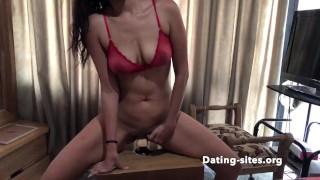 hotwife riding big dildo - hot milf porn, very hot latina porn loves masturbating, amateur porn