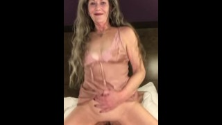 Sexy Mature Milf Long Hair Rides Reverse Cowgirl Sex Face Multi Orgasm