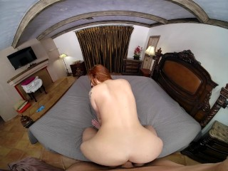 Busty Redhead Scarlett Mae Wants Sex In Your Parents' Bed VR Porn