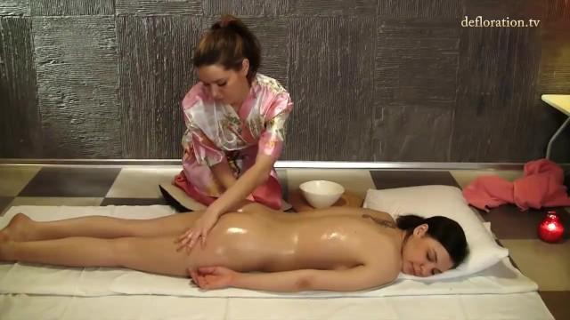 Lena Piterskaja gets first time lesbian massaged