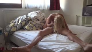 Rough Sex With Sexy BlondeEnd With Anal Creampie