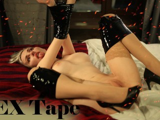 Bondage SEX tape restrained BDSM sex - Mykinkydope