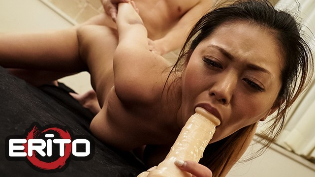 Erito - Hottie With Natural Tits Sucks Dick And Gets A Huge Load In Her Mouth And Pussy