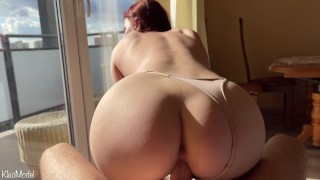 Cowgirl and Doggystyle with redhead wife KleoModel