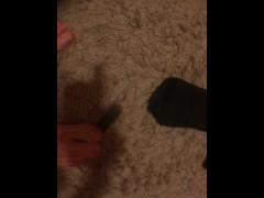 Playing TECHDECK with feet VERY HOT ASMR Tre Flip Landed!!