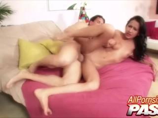 Big Cock Jizz On Amia Mileys Butt Cheeks