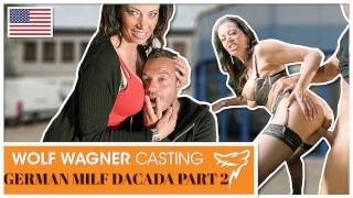 Milf DaCada enjoys sucking his dick until he cum PART 2! WOLF WAGNER CASTING