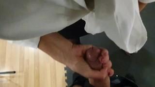 Pov masturbation with college at work