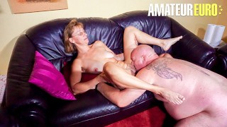 HausfrauFicken - German Granny Gets Her Tight Pussy Fucked Hard By Lucky Guy
