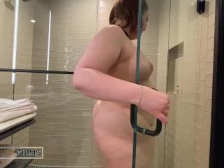 BBW shower tease