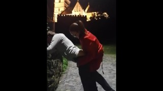 Ass stretching for faggot in Main Square- full clip on my Onlyfans (link in bio)