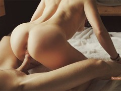 Amateur couple sensual sex with long foreplay