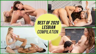 AGirlKnows - BEST OF 2020 LESBIAN COMPILATION! Beautiful Lesbian Teens And MILFs Orgasms - LETSDOEIT