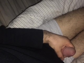 Male Stroking Hard Cock Tease