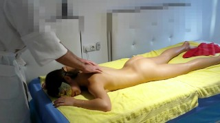 An Oiled Massage finish with a trio - Real Amateur