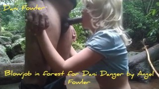 BBC Deepthroat and Cum Swallow in Forest By Real Slut Angel Fowler