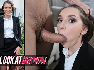 Look At Her Now - Natalie Porkman Shows Client Jmac Around The House & Gives Him A Messy Blowjob