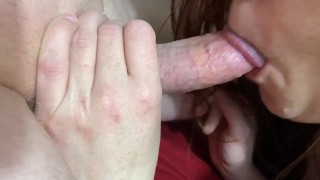 Soaking Wet Pussy With Swollen Clit Gets Buzzed, Fucked, and Sucked to a Creamy Finish