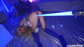 Tiny Flexible Blonde Kenzie Reeves Is Out Of This World