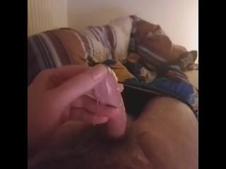 Jay showing off his precum