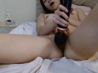 Meu primeiro vídeo me masturbando usando a Magic Wand