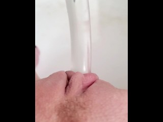 Dildo session in my bathtub