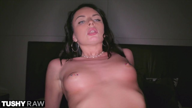 TUSHYRAW Petite Brunette craves cock in the ass day & night