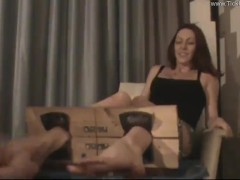 Megan Loxx Tickled in the Stocks - (partial clip)