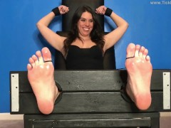 Kenzie Tickled in the Stocks Again - (partial clip)
