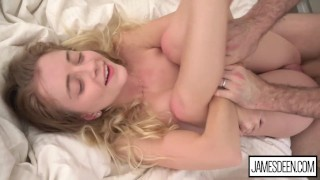 RILEY STAR LOVES IT ROUGH - CUTE BLONDE HIPSTER GIRL DOMINATED BY JAMES DEEN