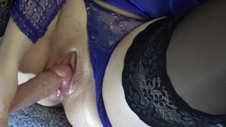 I am stretching my tightest pussy for your big dick, fuck I squirted