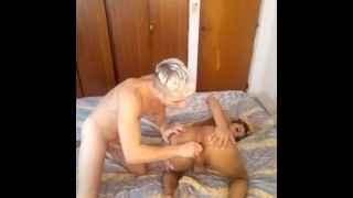 Surprising My Shemale Stepsister With Her Dildo And Breaking Her Ass