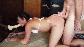 Hard rough sex with bikini girl tinder date after day club in Vegas - part 2