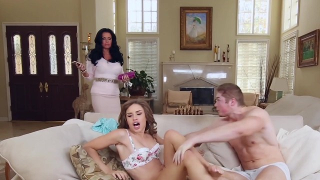 BANGBROS - MILF Catches Step Daughter With Boyfriend and Fucks Them!