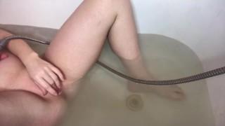shower masturbation, russian female orgasm - Water Jet female clit orgasm