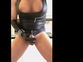 TS Melissa Glamour a POV Latex Masturbation