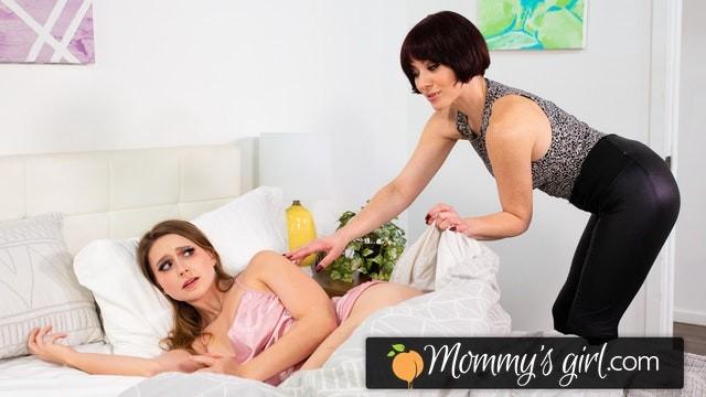 MommysGirl Laney Grey Loves A Morning Deep Fingering & Rimjob From Her Stepmom