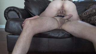 I Fucked Him So hard He Gave Me a Creampie and I Played With his Cum