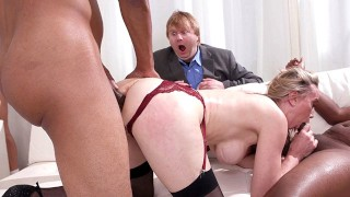 Lilly James Wants Anal Gangbang And DP With Big Black Cocks - Cuckold Sessions