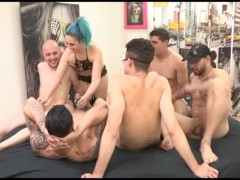 Insatiable Sukii has a gangbang and 2 cocks inside her ass