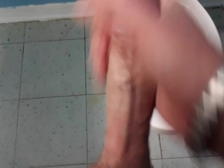 Jacking Off in the Public Restroom