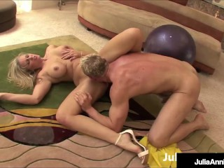 Sweaty Yoga Session! Horny Ass MILF Julia Ann Gets Fat Dick!