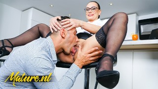 Hot Secretary Eva May Is Ready To Squirt & Gets Creampied