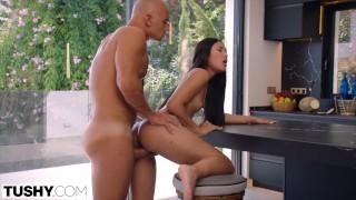 TUSHY Petite hottie May gets her anal cravings satisfied